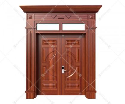Cửa thép vân gỗ Luxury KL-22.01-2TK