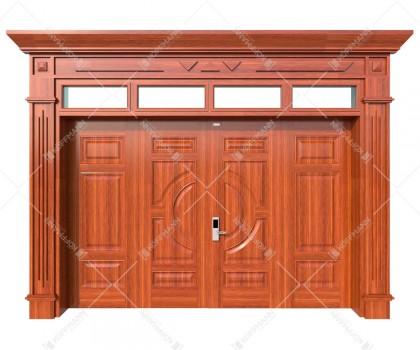 Cửa thép vân gỗ Luxury KL-42.01.03-4TK