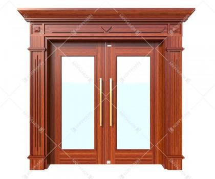 Cửa thép vân gỗ Luxury KLT