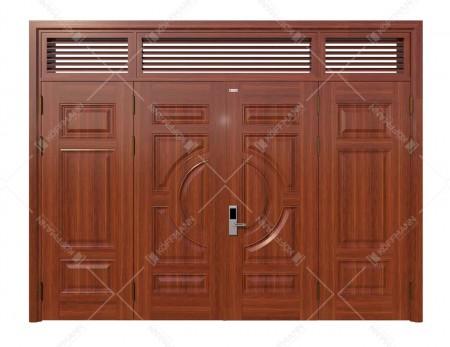 Cửa thép vân gỗ KG-42.01.03-3NC
